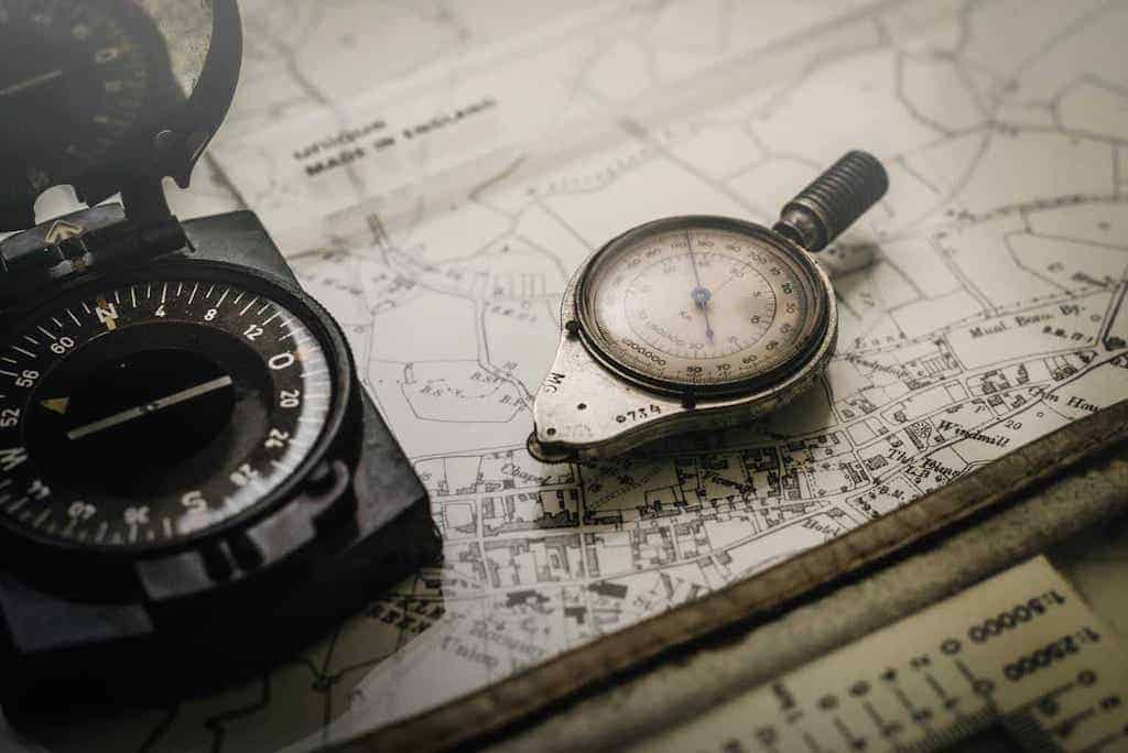 compass on a map know where you are