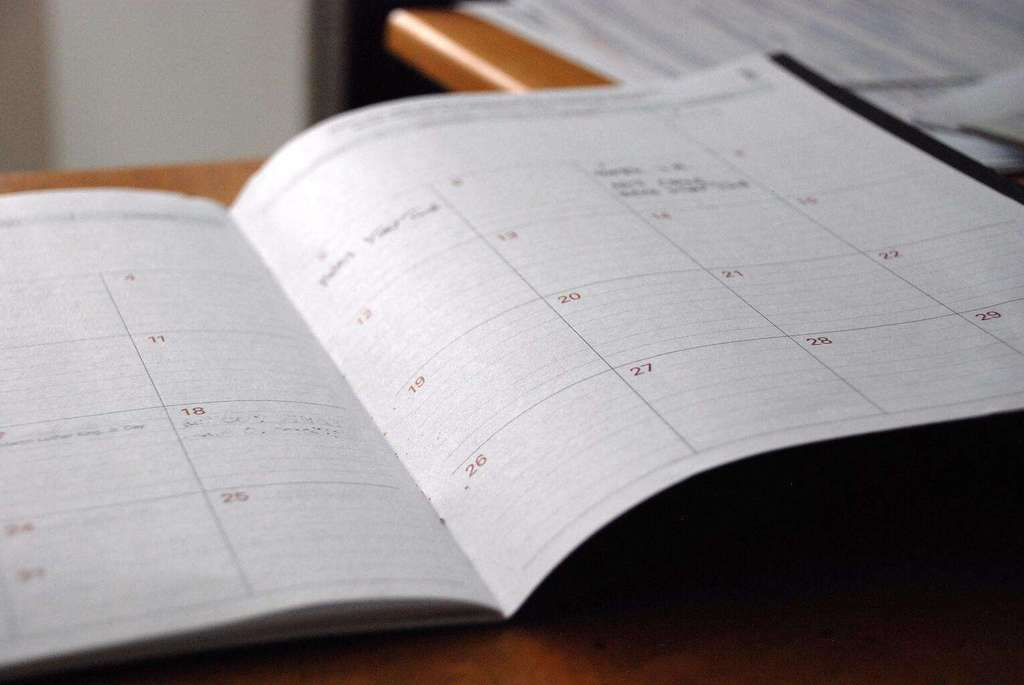 using a daily calendar to be more productive